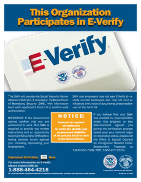 This SWA Participates in E-Verify